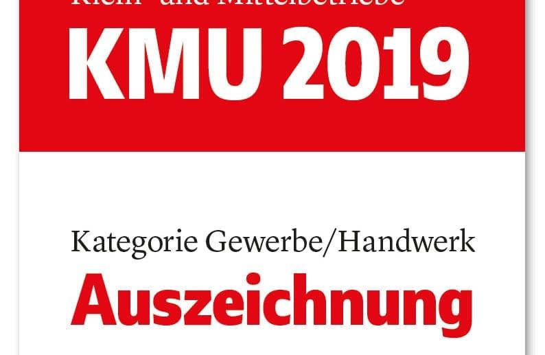 KMU Auszeichnung 2019 Kartegorie Gewerbe/Handwerk