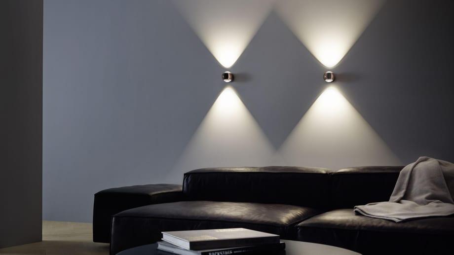Occhio Wandstrahler sorgen für indirektes Licht.