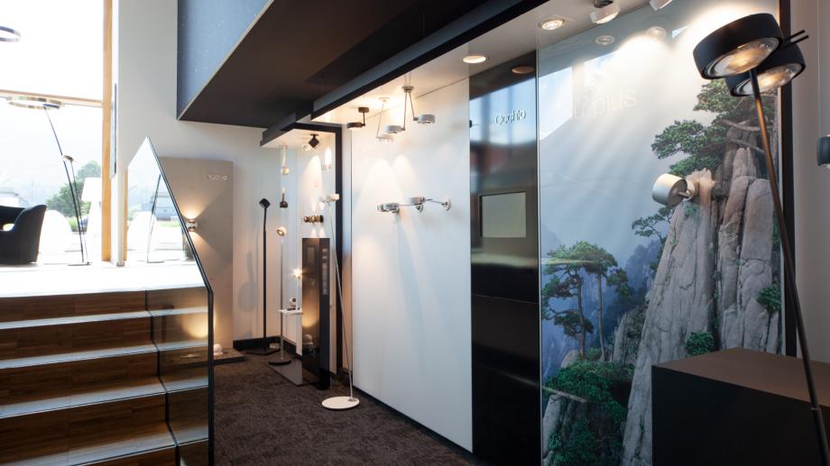 Occhio Ausstellung bei Conceptlicht. Das Lichtstudio umfasst die größte Occhio Leuchtenauswahl Vorarlbergs