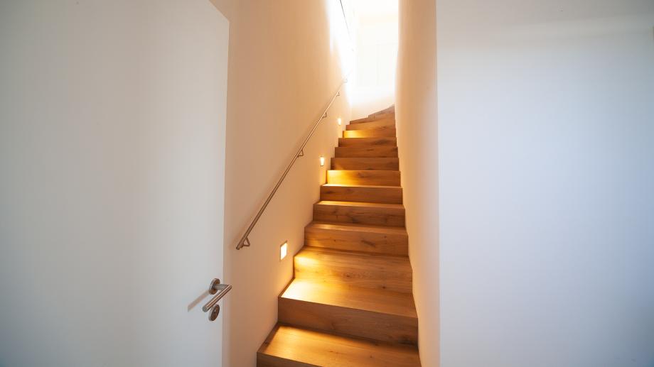 Lichtlösungen für den Treppenaufgang